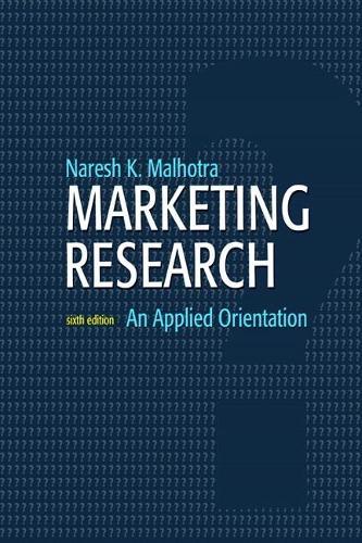 Marketing Research: An Applied Orientation (Hardback)