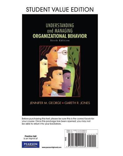 Understanding and Managing Organizational Behavior, Student Value Edition (Hardback)