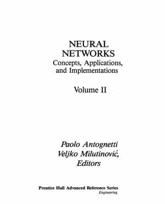 Neural Networks: Vol II: Conceptions, Applications and Implementations (Hardback)