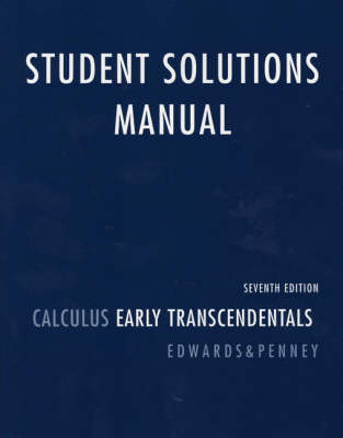 Student Solutions Manual for Calculus: Early Transcendentals (Paperback)