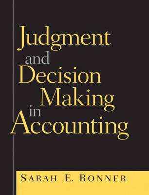 Judgment and Decision Making in Accounting (Paperback)