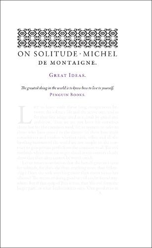 On Solitude - Penguin Great Ideas (Paperback)