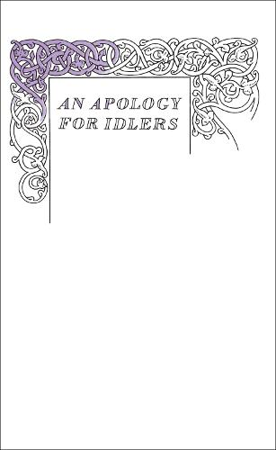 An Apology for Idlers - Penguin Great Ideas (Paperback)
