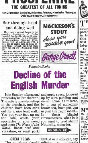 Decline of the English Murder - Penguin Great Ideas (Paperback)