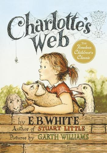 Cover of the book, Charlotte's Web.