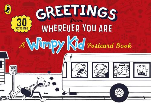 Greetings from Wherever You Are: A Wimpy Kid Postcard Book (Hardback)