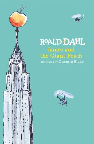 Cover of the book, James and the Giant Peach.