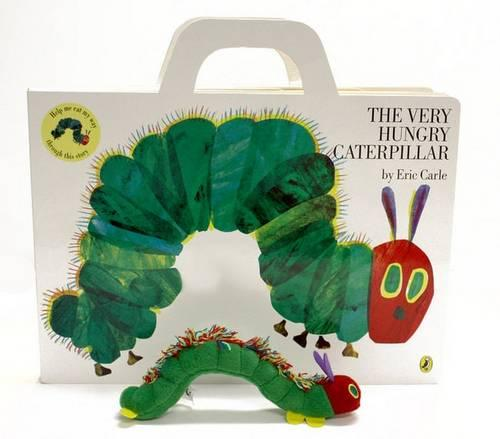 Cover of the book, The Very Hungry Caterpillar.