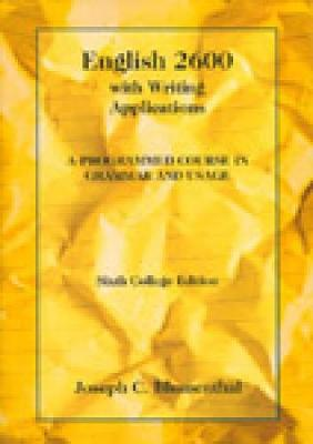 English 2600 with Writing Applications: A Programmed Course in Grammar and Usage (Paperback)
