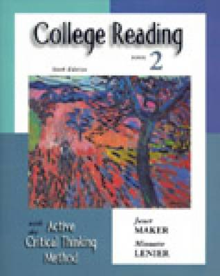 College Reading with the Active Critical Thinking Method: Book 2 (Paperback)