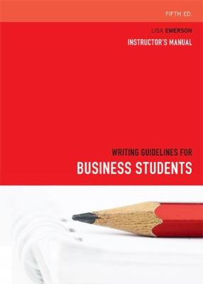 Writing Guidelines for Business Students (Paperback)