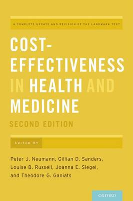 Cost-Effectiveness in Health and Medicine (Hardback)