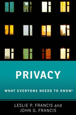 Privacy: What Everyone Needs to Know (R) - What Everyone Needs To Know (R) (Paperback)