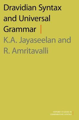 Dravidian Syntax and Universal Grammar - Oxford Studies in Comparative Syntax (Hardback)