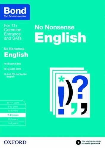 Bond 11+: English: No Nonsense: 7-8 years - Bond 11+ (Paperback)