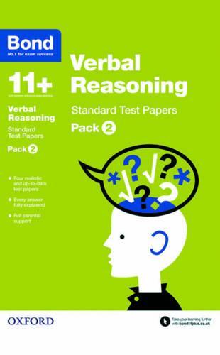 Bond 11+: Verbal Reasoning: Standard Test Papers: Pack 2 - Bond 11+ (Paperback)