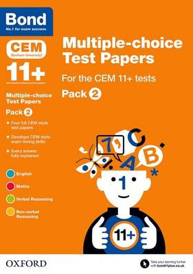 Bond 11+: Multiple-choice Test Papers for the CEM 11+ tests Pack 2 - Bond 11+ (Paperback)