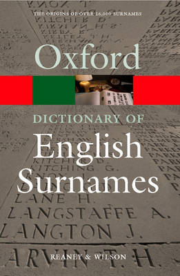 A Dictionary of English Surnames - Oxford Quick Reference (Paperback)