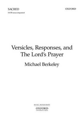 Versicles, Responses, and The Lord's Prayer: Vocal score (Sheet music)