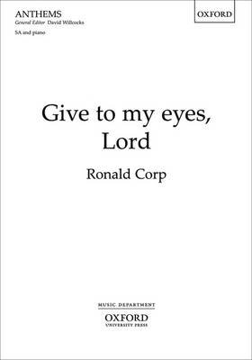 Give to my eyes, Lord (Sheet music)