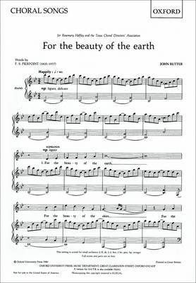 For the beauty of the earth: SA vocal score (Sheet music)