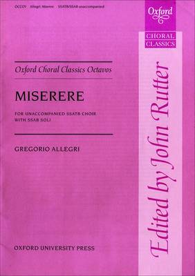 Miserere: Vocal score - Oxford Choral Classics Octavos (Sheet music)