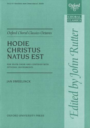 Hodie Christus natus est: Vocal score - Oxford Choral Classics Octavos (Sheet music)