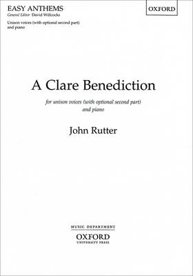 A Clare Benediction: Unison/two-part vocal score (Sheet music)