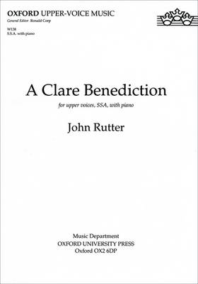 A Clare Benediction (Sheet music)