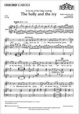 The holly and the ivy (Sheet music)