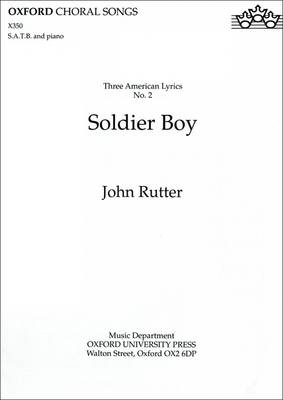 Soldier Boy: No. 2 of Three American Lyrics (Sheet music)