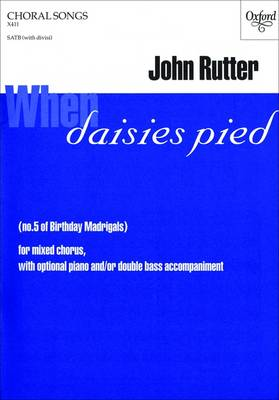 When Daisies Pied: SATB Vocal Score No. 5: Birthday Madrigals (Sheet music)