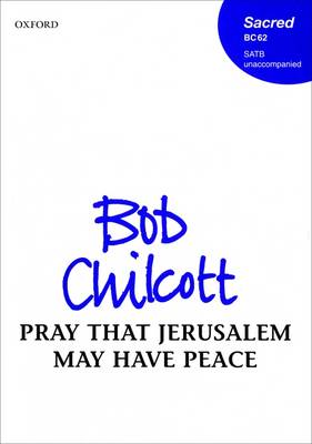 Pray that Jerusalem may have peace: Vocal score (Sheet music)