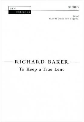 To Keep a True Lent - New Horizons (Sheet music)