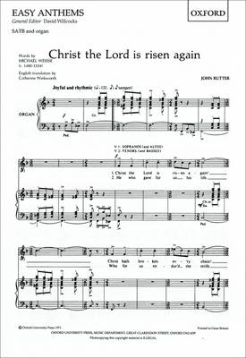 Christ the Lord is Risen Again: Vocal Score (Sheet music)