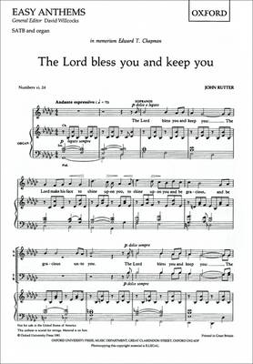 The Lord Bless You and Keep You: SATB Vocal Score: SATB Vocal Score (Sheet music)