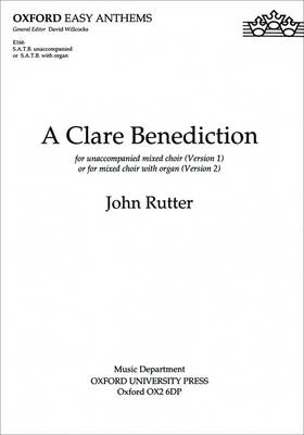 A Clare Benediction: SATB vocal score (Sheet music)