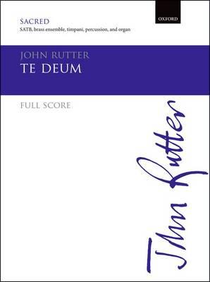 Te Deum: Brass version full score (Paperback)