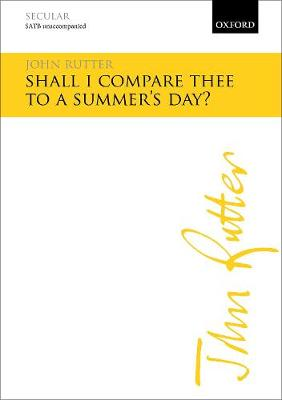 Shall I compare thee to a summer's day? (Sheet music)
