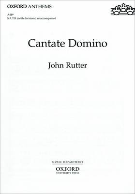 Cantate Domino: Vocal score (Sheet music)