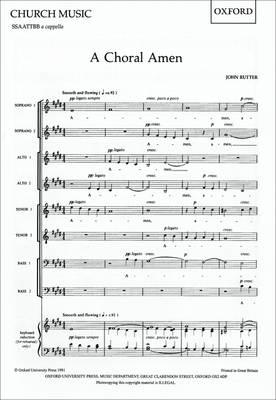 A Choral Amen: Vocal Score (Sheet music)