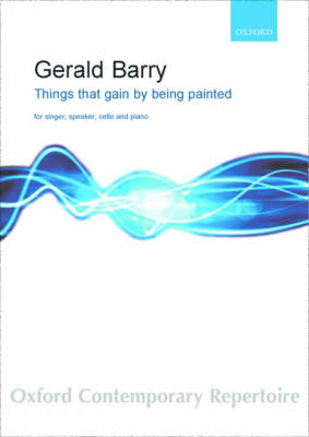 Things That Gain by Being Painted: Score and Parts on Hire (Sheet music)