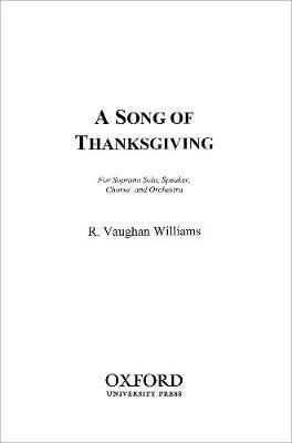 A Song of Thanksgiving: Vocal score (Sheet music)