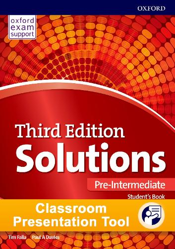 Solutions 3e Pre-intermediate Students Book & Workbook Cpt Access Card Pack