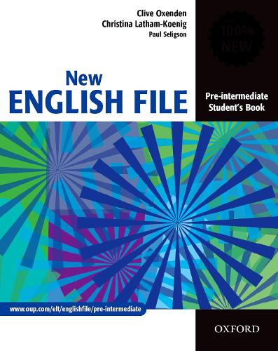 New english file pre intermediate students book by clive oxenden new english file pre intermediate students book six level general english course fandeluxe Gallery