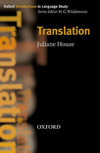 Translation - Oxford Introduction to Language Study Series (Paperback)