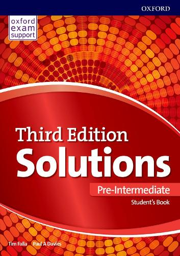 Solutions: Pre-Intermediate: Student's Book: Leading the way to success - Solutions (Paperback)