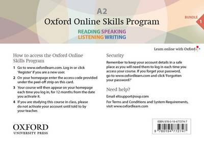 Oxford Online Skills Program: A2,: General English Bundle 1 - Card with Access Code - Oxford Online Skills Program
