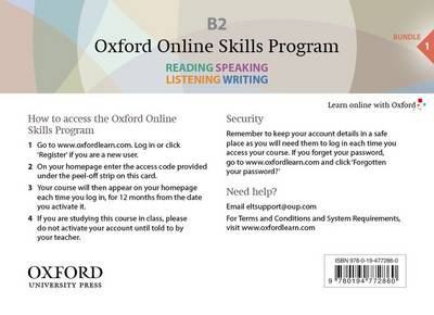 Oxford Online Skills Program: B2,: General English Bundle 1 - Card with Access Code - Oxford Online Skills Program