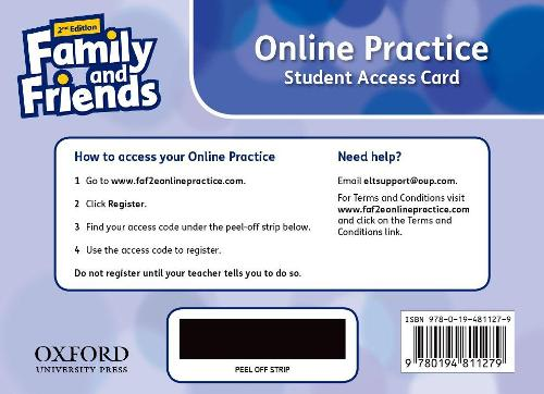 Family and Friends: Level 2: Online Practice Student Access Card - Family and Friends